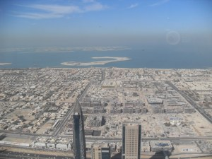 A view from the Burj Khalifa
